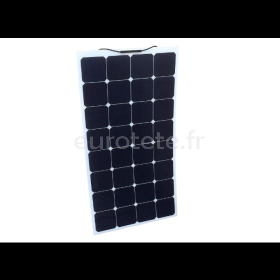 Placa solar 135 watios 148 x 57 monocristalina y flexible para autocaravana o camper 0