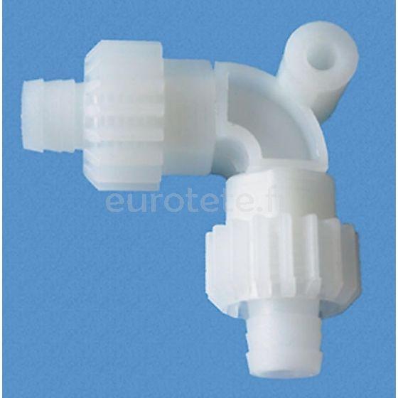 Conector en L para tubos de agua