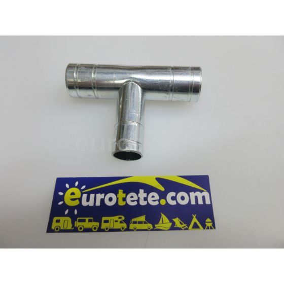 Racor T metalico de 3 vias Ø 20 x 20 x 16 mm calefaccion agua 1