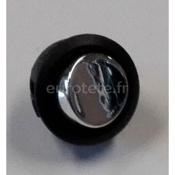 Interruptor circular cromado 12 voltios de 10 amperios para autocaravana camper