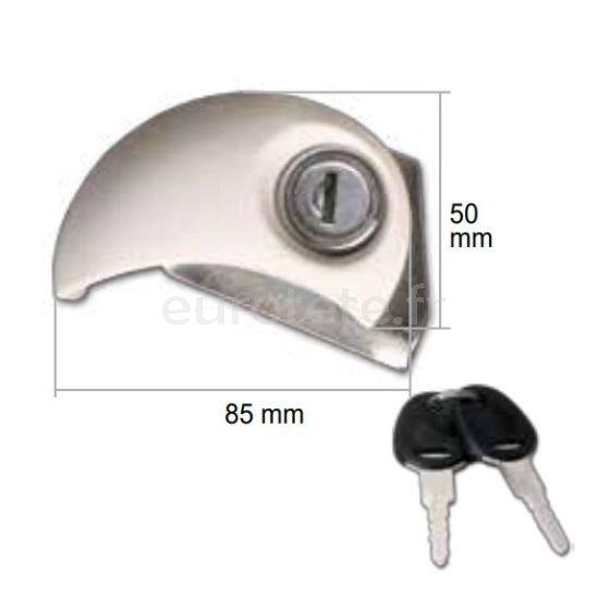 Cerradura Flap Lock Moon SX porton beig con bombin y 2 llaves puerta autocaravana 0