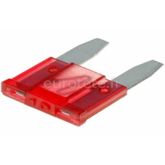 Fusible mini 10 amperios rojo para dispositivo seguridad electricidad 1