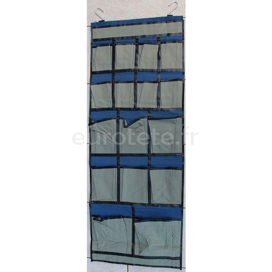 Organizador 124 X 47 cm azul con 16 bolsillos para objetos autocaravana camper o caravana