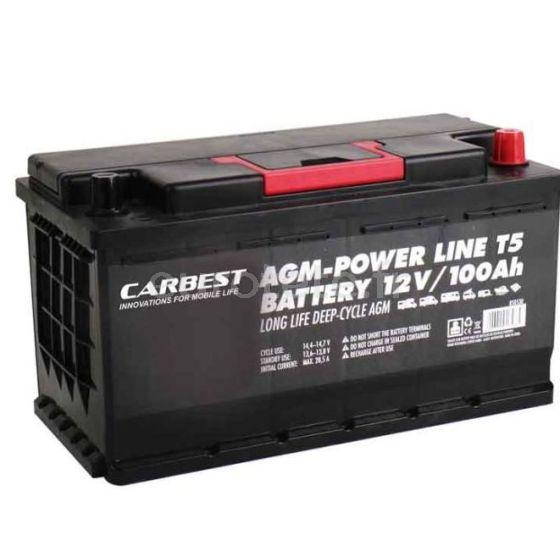 Bateria AGM especial volkswagen T5 de 100 amperios 353 x 175 x 190 mm
