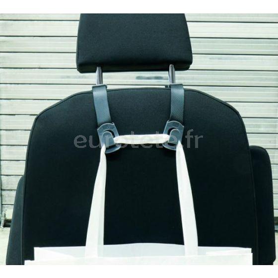 Colgador organizador con 2 ganchos para cabezal reposacabeza asiento 2