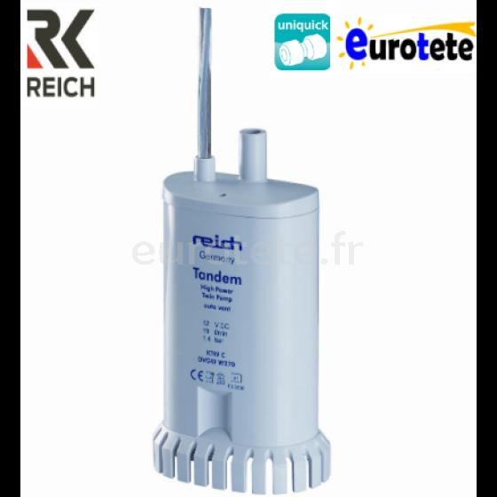Pompe eau 19 litres minute 1,5 bar Reich Tandem a 12 volts 1