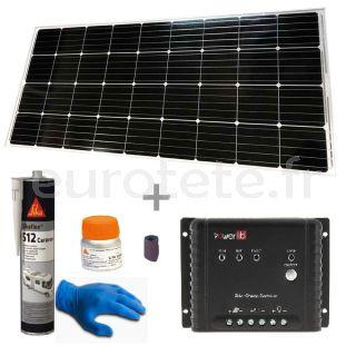 Panneau solaire 170 watts 150 x 67 cm avec controleur MPPT pour camping-car