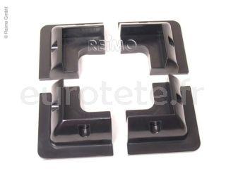 Soporte de placa solar negro 4 unidades para autocaravana 2