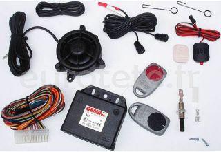 Alarme GEMINI 862 avec commandes 12 volts pour la securite du camping-car
