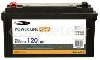 Batterie AGM 120 amp pour camping-car