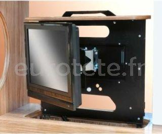 Support LCD Project 2000 avec position droite, gauche ou fixe pour le camping-car