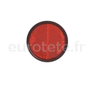 Autocollant reflecteur rouge Ø 58 autocollant pour remorque ou autres