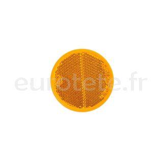 Adhesif reflecteur orange Ø 56 autocollant pour caravane, remorque ou autres