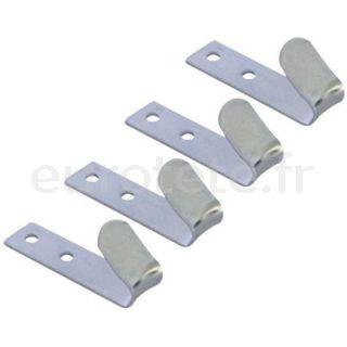 Ganchos metalicos para sujetar en remolque o organizador en garaje autocaravana