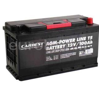 Batterie 100 agm 35 x 17 x 19 compacte et VW T5