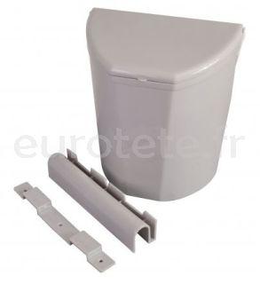 Papelera 30 x 27 o cubo basura gris para colgar en puerta entrada autocaravana nautica 1