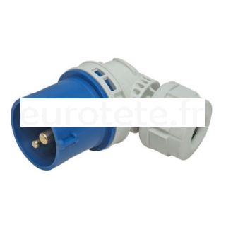 Adaptador CEE 17 articulado clavija enchufe macho IP44 16 amperios 1