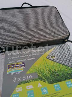 Tapis de sol 300 x 500 mm premium gris 480 g / m2 de camping