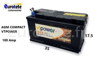 Bateria AGM 100 amperios camper autocaravana 1