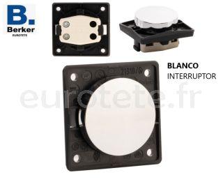 Berker-blanc-interrupteur-bascule-ouverture-fermeture-éclairage-lumière-camping-car-électricité