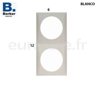 Berker-blanc-double-cadre-interrupteur-bouton-poussoir-electrique-inprojal-gala-camping-car