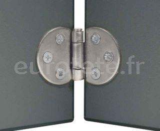Bisagra zincada para mesa o puerta abatible camperizacion 1