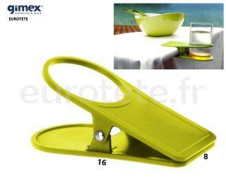 Clip-pince-table-vert-pistache-canette-boisson gazeuse-Gimex-ustensiles de cuisine-camping-caravane-camping-car-1