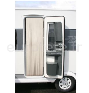 Rideau 60 x 200 cuir creme - beige camping-car caravane 1