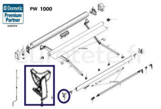Dometic PW 1000 couvercle gauche du rail exterieur du panneau avant