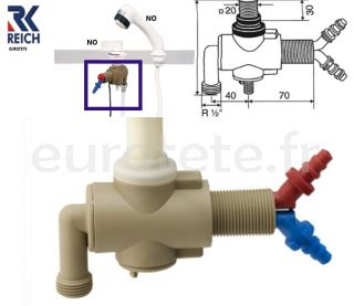 mezclador-monomando-encimera-Reich-ducha-bomba-de-agua-racor-manguera-agua-instalación-autocaravana-caravaning-fontanería-grifería
