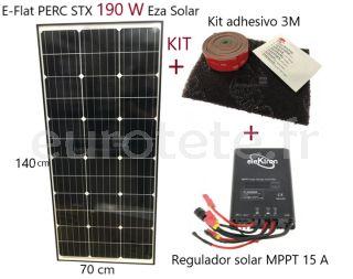 Panneau solaire-190 watts-régulateur-haute-performance-MPPT-15-A-camping-car-monocristallin