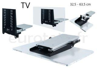 Support-TV-amovible-32-63-cm-pour-placard-mural-camping-car-camper-van-fourgon-caratec-flex-CFA103H-