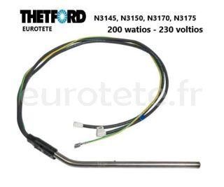 Thetford-resistance-200 watts- 230-volts-N3145- N3150-N3170-N3175-refrigerateur