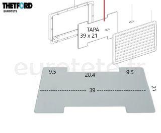 Couvercle-Thetford-N3141-N3142-hiver-257-432-frigo-SR-vent-cover camping-car-frigo-pièce de rechange-1
