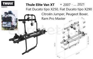 Thule-Elite-Van-XT-black-Fiat-Ducato-X250- X290-Jumper-peugeot-Boxer - + - 2007-camper-bike rack