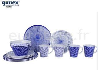 Gimex-917962-reimo-vaisselle-en-melamine-galaxy-mix-assiette-bleue-et-blanche-pour-4-personnes-camping-car-1