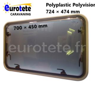 Fenetre 700 x 450 Verre polyplastic Polyvision gris caravane 1